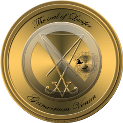 Demon Lucifer is described in the Grimoirium Verum and this is his seal.
